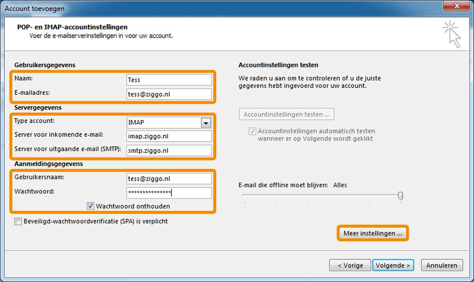 Office365 email instellen